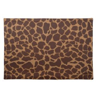 Modelo de la impresión de la piel de la jirafa mantel