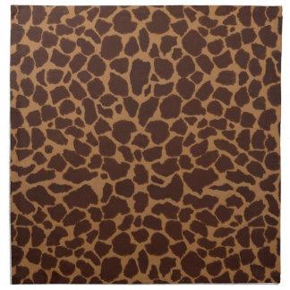 Modelo de la impresión de la piel de la jirafa servilletas