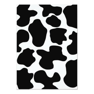 Modelo de la impresión de la vaca invitación 12,7 x 17,8 cm
