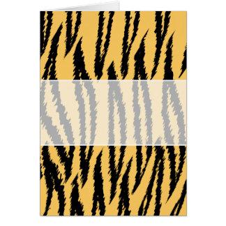 Modelo de la impresión del tigre. Naranja y negro Tarjeta De Felicitación