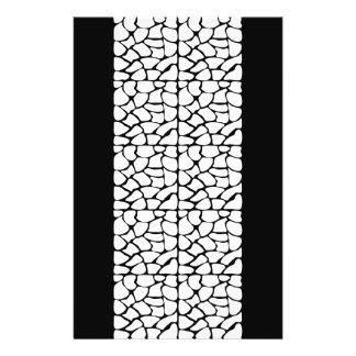 Modelo de la jirafa. Blanco y negro Folleto 14 X 21,6 Cm