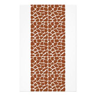 Modelo de la jirafa. Brown Tarjetas Publicitarias