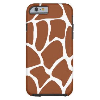Modelo de la jirafa de Brown Funda De iPhone 6 Tough