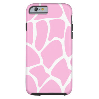 Modelo de la jirafa en rosa del caramelo funda de iPhone 6 tough