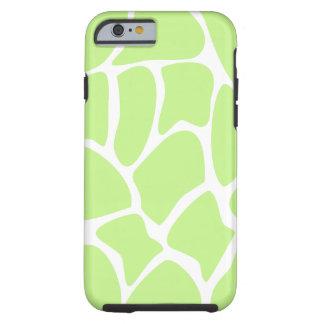 Modelo de la jirafa en verde de cal ligero funda de iPhone 6 tough