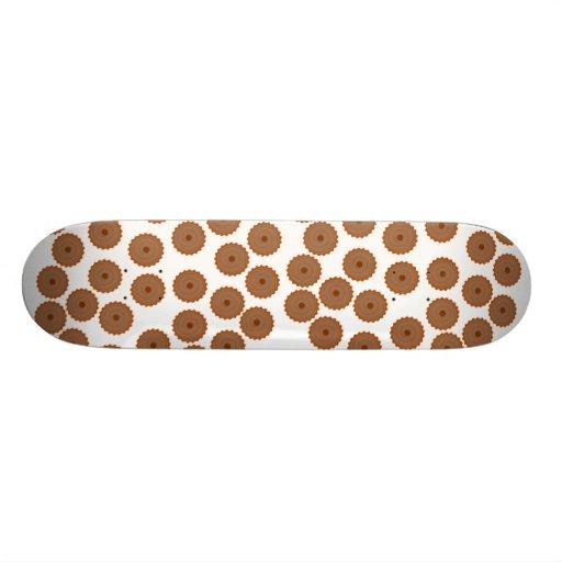 Modelo de la magdalena del chocolate patines