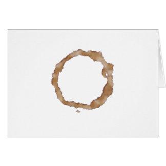 Modelo de la mancha del café tarjeta de felicitación