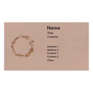 Modelo de la mancha del café tarjetas de visita