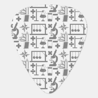 Modelo de la matemáticas de la geografía de la púa de guitarra