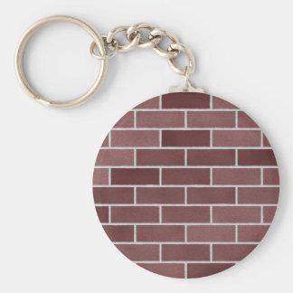Modelo de la pared de ladrillo llaveros