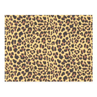 Modelo de la piel animal del estampado leopardo postal