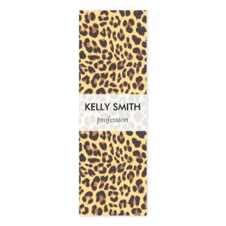 Modelo de la piel animal del estampado leopardo tarjetas de visita mini