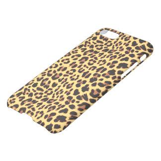 Modelo de la piel animal del leopardo funda para iPhone 7
