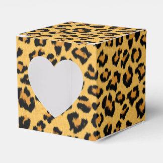 Modelo de la piel de imitación del leopardo o de caja para regalos