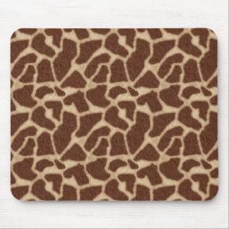 Modelo de la piel de la jirafa alfombrilla de ratón