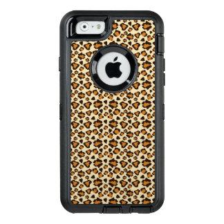 Modelo de la piel del guepardo funda OtterBox defender para iPhone 6