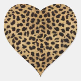 Modelo de la piel del guepardo, impresión del guep pegatina corazon