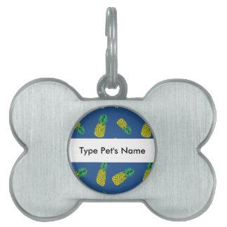 Modelo de la piña en etiqueta del nombre del placas de mascota