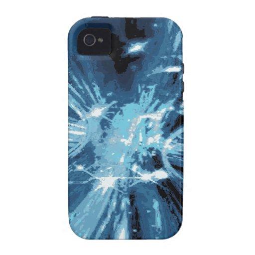Modelo de la pintura de los azules de Techno iPhone 4 Carcasa