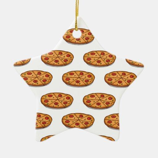 Modelo de la pizza de salchichones; Comida italian Ornamento De Reyes Magos