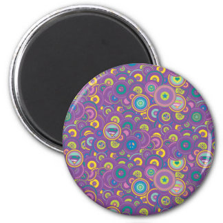 Modelo de la púrpura del círculo de Supergirl Imán Redondo 5 Cm