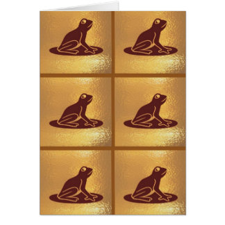 Modelo de la rana del mascota: Base de oro Tarjeta De Felicitación