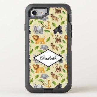 Modelo de la selva del safari del animal salvaje funda OtterBox defender para iPhone 7