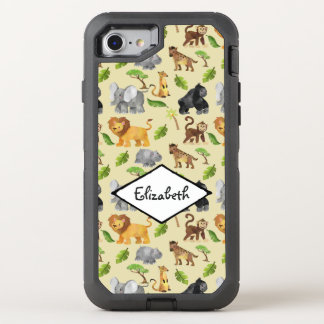 Modelo de la selva del safari del animal salvaje funda OtterBox defender para iPhone 8/7