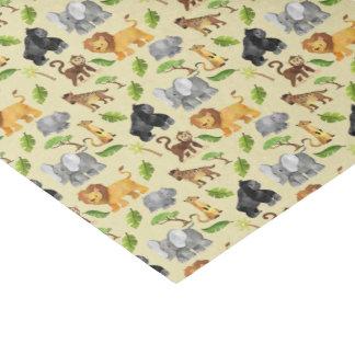 Modelo de la selva del safari del animal salvaje papel de seda