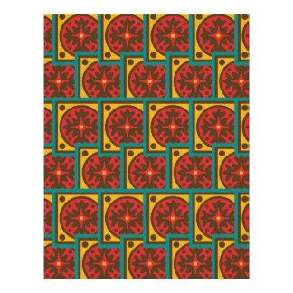 Modelo de la tapicería folleto 21,6 x 28 cm