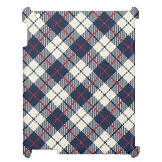 Modelo de la tela escocesa de los azules marinos