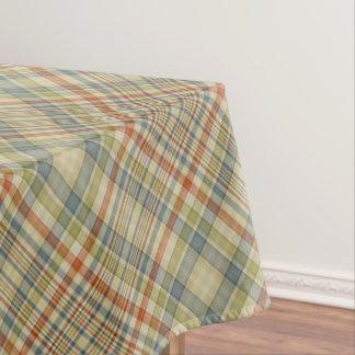 Modelo de la tela escocesa de los colores en mantel