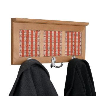 Modelo de la terracota del estante de la capa colgador para abrigos