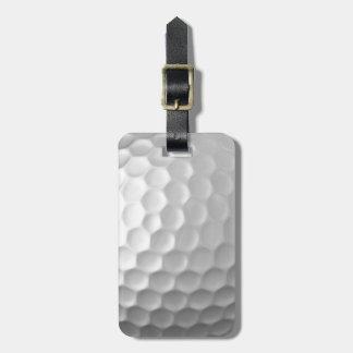 Modelo de la textura de los hoyuelos de la pelota etiqueta para maletas