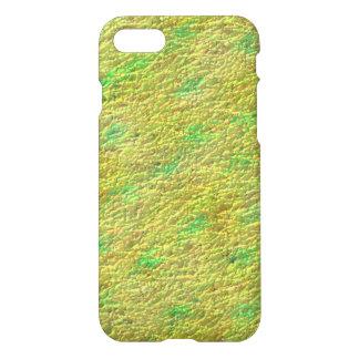 Modelo de la textura del verde amarillo funda para iPhone 7