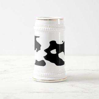 Modelo de la vaca blanco y negro jarra de cerveza