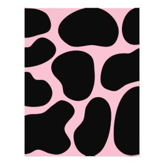 Modelo de la vaca en rosa y negro tarjetón