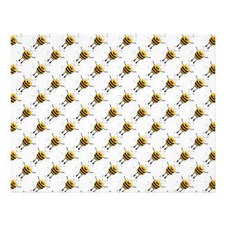 Modelo de las abejas del dibujo animado tarjetones