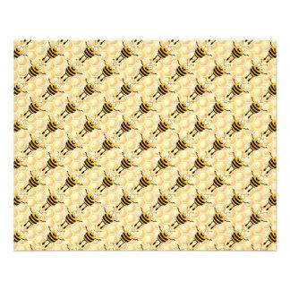 Modelo de las abejas del dibujo animado folleto 11,4 x 14,2 cm
