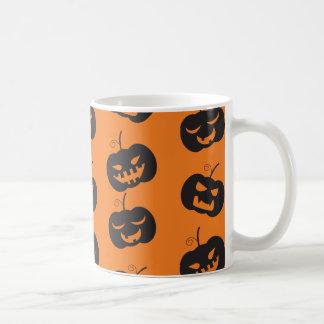 Modelo de las calabazas de Halloween Taza De Café