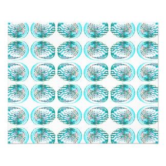 Modelo de las cáscaras folleto 11,4 x 14,2 cm