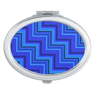 Modelo de las escaleras de las rayas azules espejo de viaje