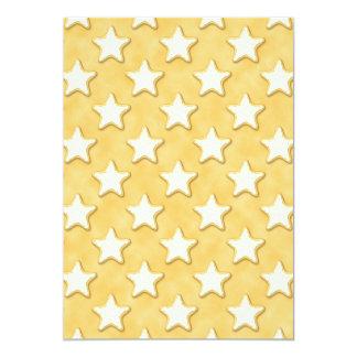 Modelo de las galletas de la estrella. Amarillo de Anuncios