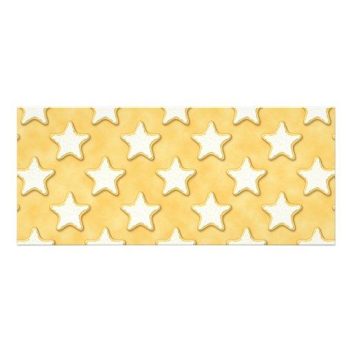 Modelo de las galletas de la estrella. Amarillo de Comunicados Personales
