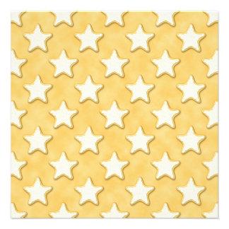 Modelo de las galletas de la estrella Amarillo de Anuncios Personalizados