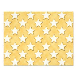 Modelo de las galletas de la estrella Amarillo de Invitación Personalizada
