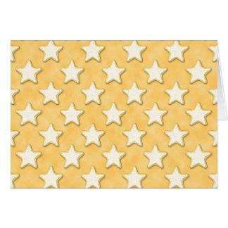Modelo de las galletas de la estrella. Amarillo de Tarjetas
