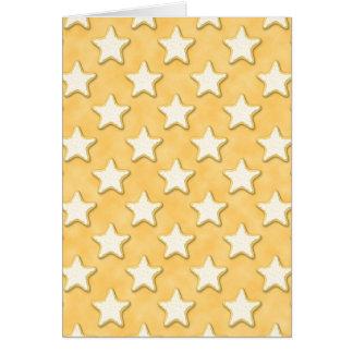 Modelo de las galletas de la estrella. Amarillo de Tarjeta De Felicitación