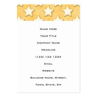 Modelo de las galletas de la estrella. Amarillo de Tarjetas De Visita Grandes