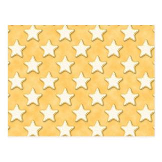 Modelo de las galletas de la estrella. Amarillo de Postal